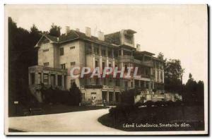Old Postcard Lazne Luhacovice Smetanuv Dum