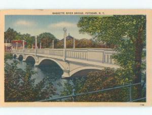 Linen BRIDGE SCENE Potsdam New York NY d4753