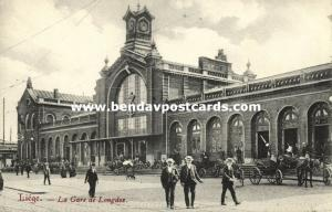 belgium, LUIK LIEGE, La Gare de Longdoz, Railway Station (1910s)