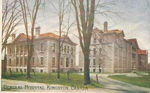 General Hospital, Kingston, Ontario, Canada, Early Postcard, unused