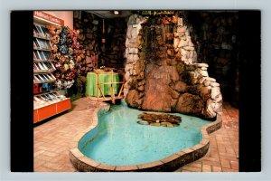LaGrange IL Waterfall Room Marcia's Hallmark Card Shop, Chrome Illinois Postcard