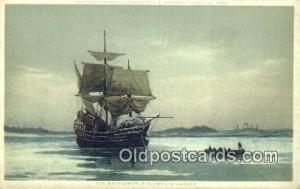 Mayflower In Plymouth Harbor Sail Boat Postcard Post Card  Mayflower In Plymo...