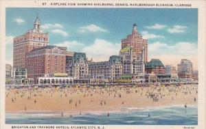 New Jersey Atlantic City Airplane View Showing Shelburne