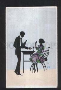 3069968 ART NOUVEAU Lovers SILHOUETTE by MG Vintage PC