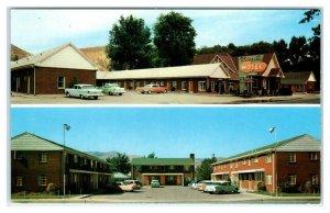 POCATELLO, Idaho ID ~ Roadside BIDWELL'S MOTEL & Apartments 1950s Cars Postcard