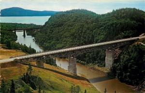 Maratho & Terrace Bay Ontario~Little Pic River Bridge on Hwy 17~Railroad Trestle