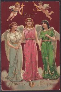 Faith,Hope,Charity,Angels