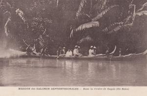 Dans La Riviere De Gagan (Ile Buka), Mission Des Salomon Septentrionales, Solomo