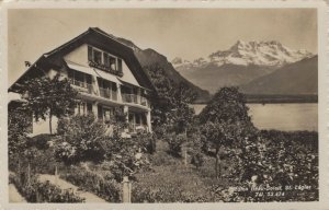 Pension Beau Soleil St Legier Old Vaud Switzerland RPC Postcard