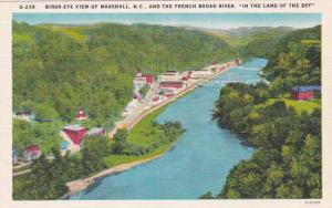North Carolina Marshall Birds Eye View Of Marshall And The French Broad River...