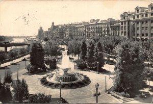 Spain Lerida Plaza del Gobierno Civil Government Square Fountain Postcard