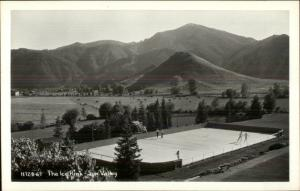 Sun Valley ID The Ice Rink Real Photo Postcard