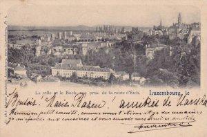 La ville et le Bock, vue prise de la route d'Eich , Luxembourg ,  PU-1900