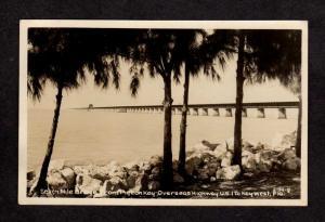FL Seven Mile Bridge to Key West Florida RPPC Real Photo Postcard