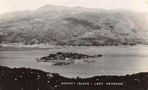 LPS28 San Diego California Monkey Island Lake Henshaw Postcard RPPC