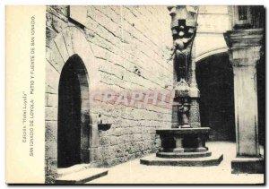 Old Postcard San Ignacio de Loyola Patio Fuente y San Ignacio