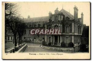 Postcard Old Bank Hotel Vierzon City Caisse d & # 39Epargne