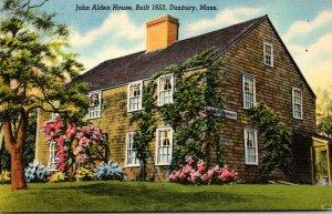 Massachusetts Duxbury John Alden House Built 1653