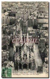 Old Postcard Rouen St. Maclou View Shooting the arrow Saint Maclou