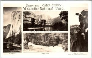 RPPC  YOSEMITE NATIONAL PARK, California  CA   Scenes near CAMP CURRY  1947