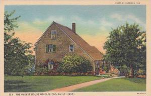 Massachusetts Cape Cod The Oldest House On Cape Cod Built 1637