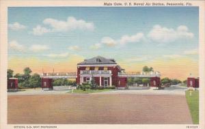 Florida Pensacola Main Gate U S Naval Air Station Curteich