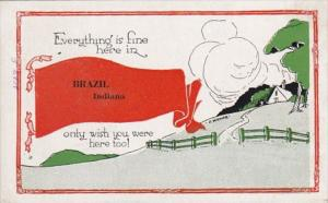 Indiana Brazil Everything Is Fine 1920 Pennant Series