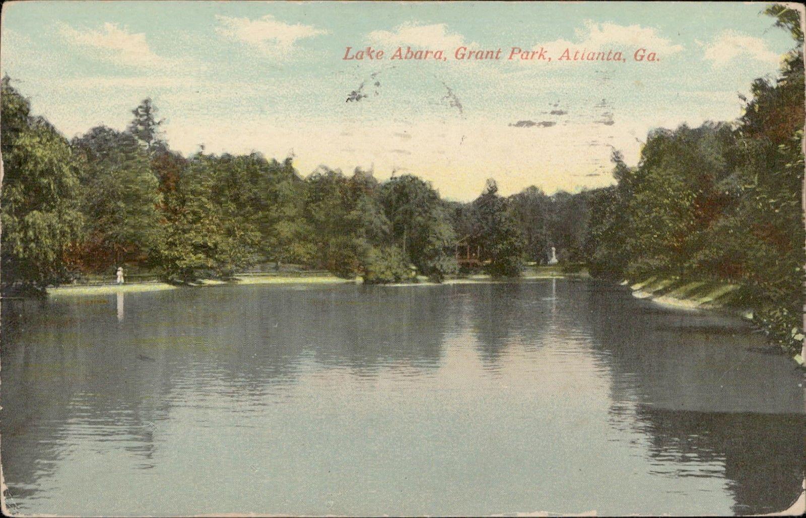 Lake Abana Grant Park Atlanta Georgia / HipPostcard