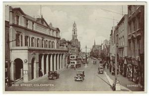 Vintage Postcard Showing Early View of High Street in Colchester, UK