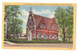 Lewes Delaware DE Zwaanendael House Vintage Linen Postcard