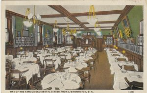 WASHINGTON D.C. , 1910s ; Occidental Dining Rooms