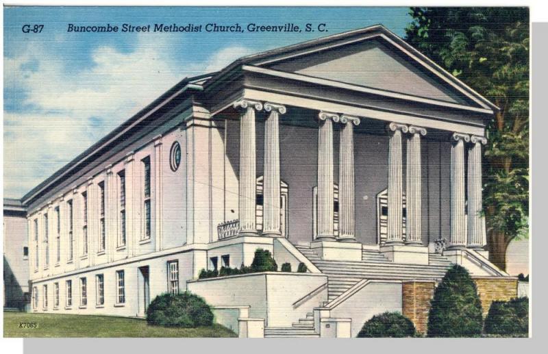 Greenville, South Carolina/SC Postcard,Mthst Church,Nr Mint!