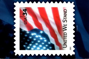 Stamps On Postcards 2001 United We Stand 2005