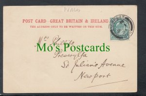 Genealogy Postcard - Phillips - Preswylfa, St Julian's Avenue, Newport  RF6493