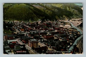 Wallace ID, Bird's-Eye View of Mining Town, Vintage Idaho c1910 Postcard