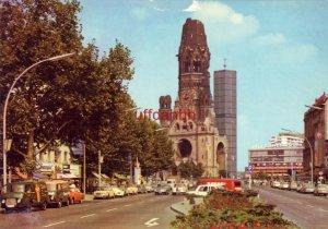 BERLIN, GERMANY. KURFURSTENDAMM und KAISER-WILHELM-GEDACHTNISKIRCHE