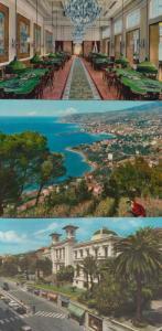 Sanremo Casino Roulette Tables Aerial 3x Italy Italian Postcard s