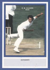 RM Ellison Kent RARE Limited Edition Vintage Cricket Trading Photo Card