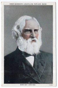Henry Wadsworth Longfellow, Portland, Maine, Born 1807 - Died 1882