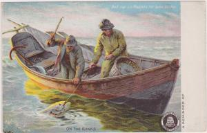 AD: Bell-cap-sic Plasters for lame backs, On the Banks, 00-10s Fishermen
