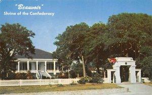 Beauvoir, historic home of Jefferson Davis Shrine of the confederacy, USA Civ...