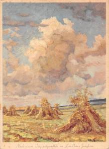 Nach einem Original Gemaelde im Landhaus Jungborn, haystacks, Signed