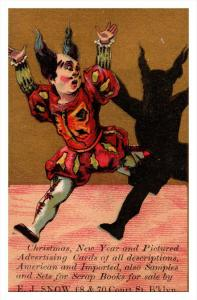 Trade card  New York  Brooklyn E.J.Snow Co, Clown and Shadow