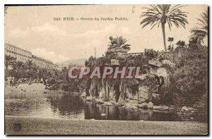 Nice Old Postcard Public Garden Grotto