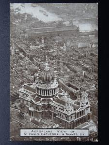 London ST PAUL CATHEDRAL From The Air c1920's PC by Aircraft Manufacturing Co.