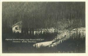 Field BC Canada Railroad Harmon 1920s RPPC Photo Postcard Rocky Mountains 5634