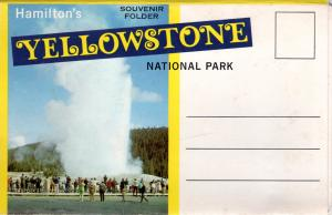 YELLOWSTONE NATIONAL PARK, SOUVENIR FOLDER