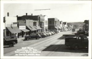 Chamberlain SD Main St. Vintage Cars Real Photo Postcard