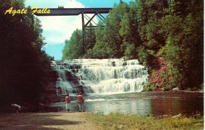 US  PC2590   AGATE FALLS, TROUT CREEK,  MICHIGAN