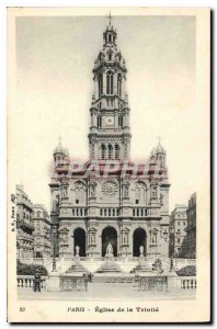Postcard Old Paris Church of the Trinity